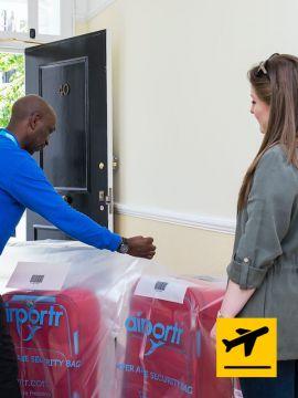 London Heathrow airport baggage delivery departure